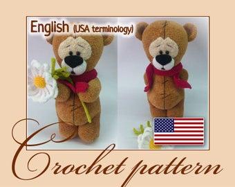 Wonder Teddy Bear - Amigurumi Crochet Pattern PDF file by Elena Akkoca (Ecem Design)