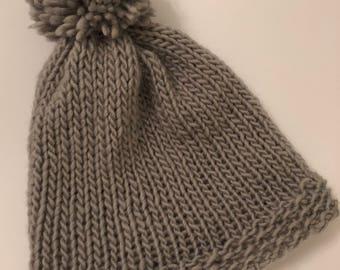 Woman's hand knit beanie