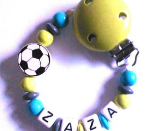 Football pacifier clip