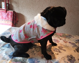 coat for small dog sweater fabric