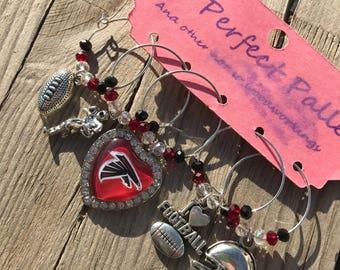 Atlanta Falcons wine charms