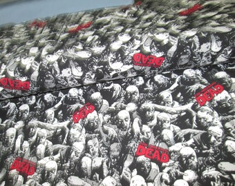 Fabric cotton lycra patterned walking dead