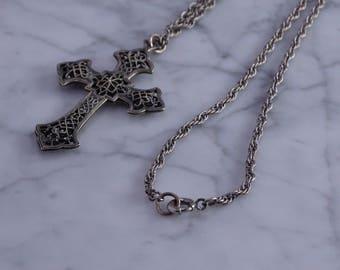 "Antique Cross / Neck Chain(19"")"