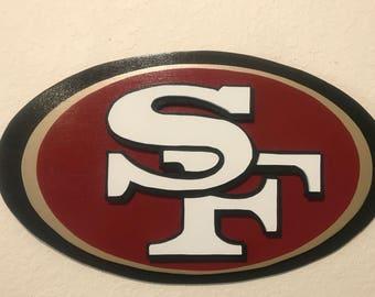 San Francisco 49ers, Wood Art, Wall Decor