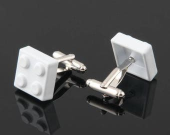 Lego Cufflink -B84 Free Gift Box