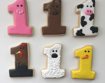 Barn Yard Animals, Animal Cookies, Birthday Cookies, Child's Birthday, Treat Bags, Party Favors, Dessert Table, Farm Cookies, Cookie Gifts