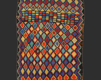 Vintage Semi AntiqueAzilal vintage rug Morocco 7.7 x 5.1 ft / 235 x 155 cm moroccan Bohemian rug 8 x 5 ft