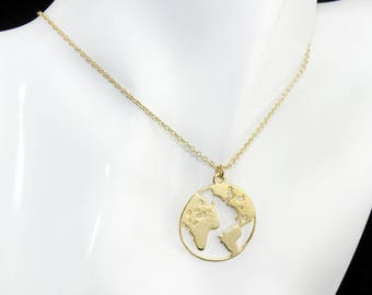 World map necklace world map necklace etsy gumiabroncs Image collections