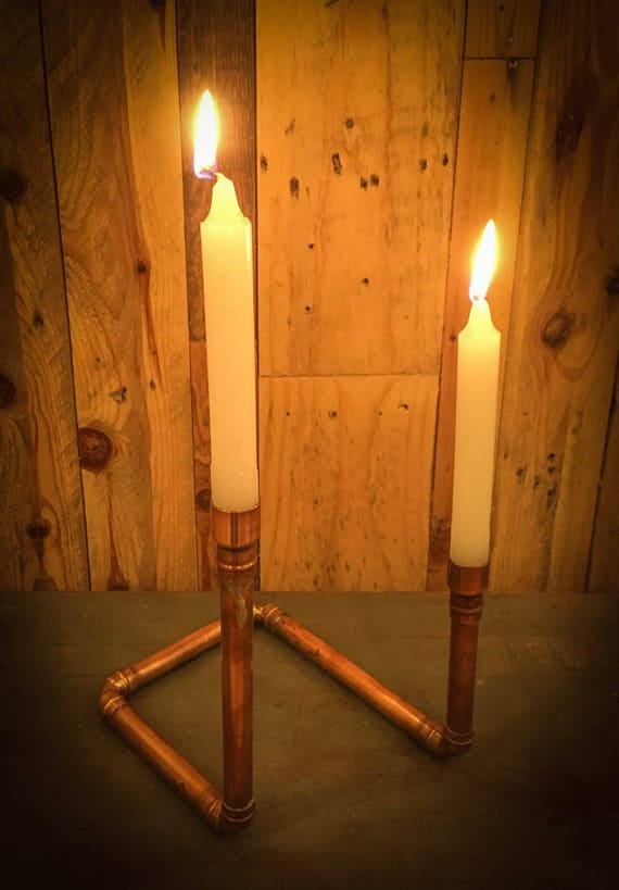 Industrial Copper Pipe candelabra