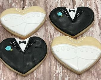 Bride & Groom Hearts (1 Dozen)