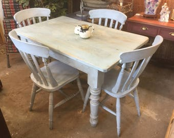Shabby Chic Farmhouse table and chairs