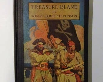 1939 TREASURE ISLAND by Robert Louis Stevenson, N.C. Wyeth Color Illustrations and Map