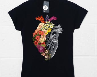 Flower Heart - Womens Fitted T Shirt by Tobias Fonseca