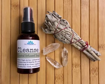 CLEANSE-Crystal Infused White Sage Spray