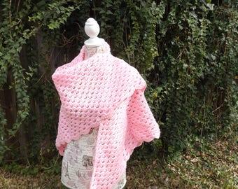 Double Hug Prayer Shawl in pink