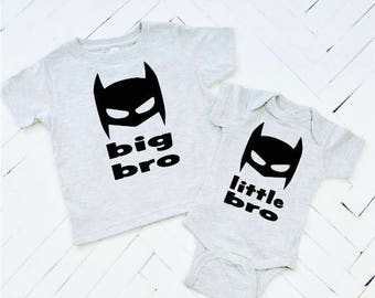 Little Bro or Big Bro, Superhero Brother, Big Brother, Toddler Tee, Baby Announcement, Big Brother Tshirts, Big Brother Clothes, Batman