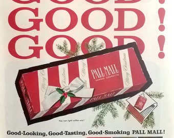Vintage Pall Mall Ad Decmber 1960 The Saturday Evening Post