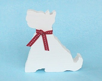 Wooden West Highland White Terrier, Westie Ornament, West Highland Terrier, White Dog, Wooden Dog Decoration, Dog Ornament, Dog Lovers Gift