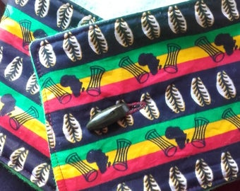 Wax rasta and fleece neck warmer Green