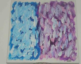 "Acrylic painting ""Duality"" on canvas frame"