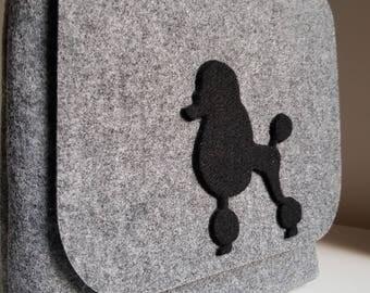 New Handmade  Grey Shoulder Crossbody Small Dog Cute Doggie Handbag