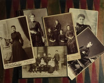 Edwardian Cabinet Photographs Scotland Women Children Family