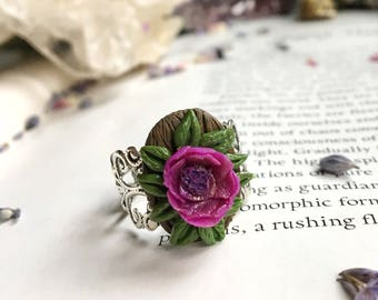 Flower Power Ring • Polymer Clay Jewelry