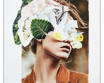 Caitlin | original collage art print