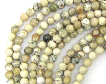 "8mm african opal round beads 15.5"" strand 13178"