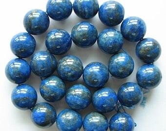 "A+ 16mm lapis lazuli round beads 16"" strand 11018"