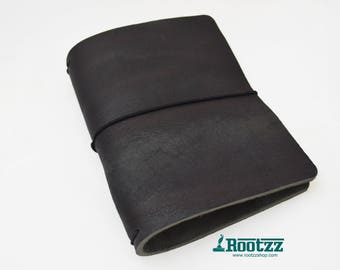 A6 Traveler's notebook black leather - midori like- fauxdori