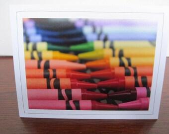 Photo Greeting Card   Handmade Card   Photo Note Card   Original Photography   Crayons