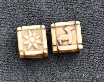 HANDCARVED STONE DICE