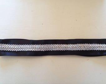 silver lace headband