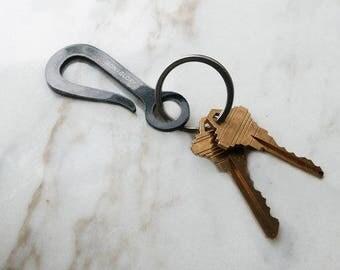 Keyhook Keychain, Glossy Black