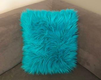 Brand New: Fun Shag Fur Pillow