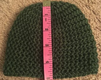 Solid color baby hat.