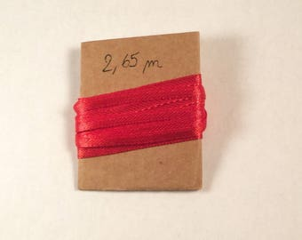 2.65 m 4 mm wide Red satin ribbon