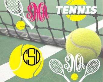 Tennis Decal Tennis Sticker Car Window Sticker Monogram Yeti Cup Decal
