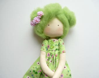 rag doll and fabric gift decoration room Thalie