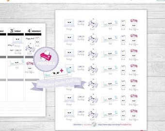50% OFF SALE Kawaii Printable Planner Stickers, Planner Stickers, happy planner stickers, planner stickers for erin condren life planner, pr