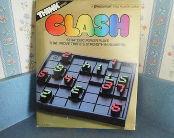 """Vintage Clash Game by Pressman from the """"Think"""" Series 1986"""
