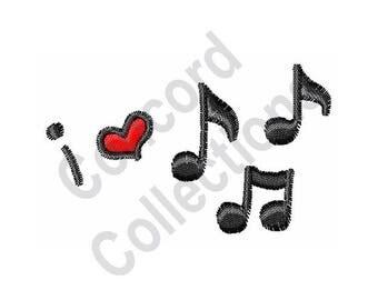 Music - Machine Embroidery Design