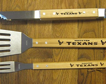 Houston Texans BBQ Barbeque Tool set Great gift for Dad