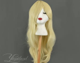 Blonde Wavy Wig | Blonde Wig | Long Blonde Wig | Pastel wig | Long Wig with high quality synthetic hair