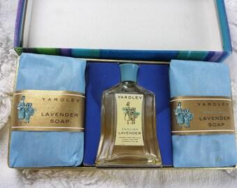 Vintage Yardley English Lavender Mini Soap Gift Set *Empty Perfume Bottle*