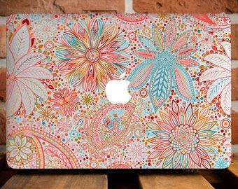 Mandala Black Henna MacBook Pro Retina 15 Case MacBook Air 13 Cover MacBook Cover Hard Plastic Case MacBook Pro 13 Case Mac Case WCm067