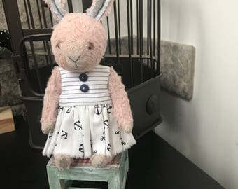 Teddy bear bunny  ooak artistry bear friend blythe