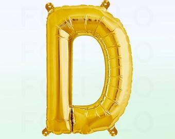 Metallic Gold Letter D Balloon | Gold D Balloon | Gold Letter D Balloon | Jumbo Letter D Balloon