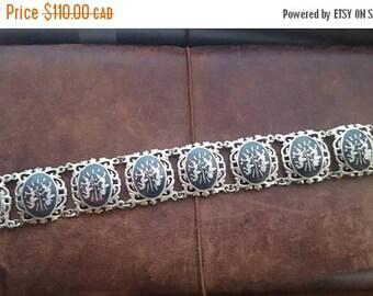 ON SALE Vintage Siam Sterling Bracelet